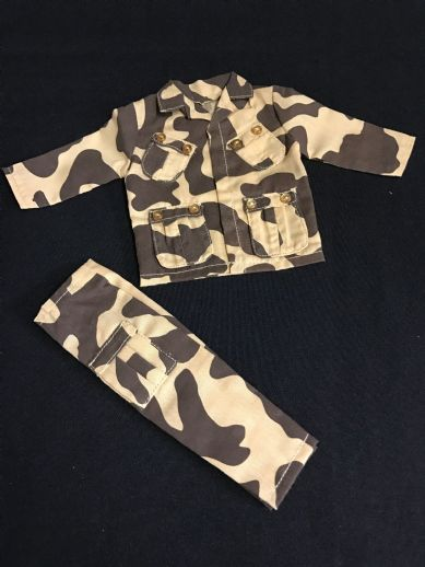 ELITE BRIGADE - Commander Uniform Version 1, Amoeba Camo to fit Action Man/Gi Joe Adventure Team etc